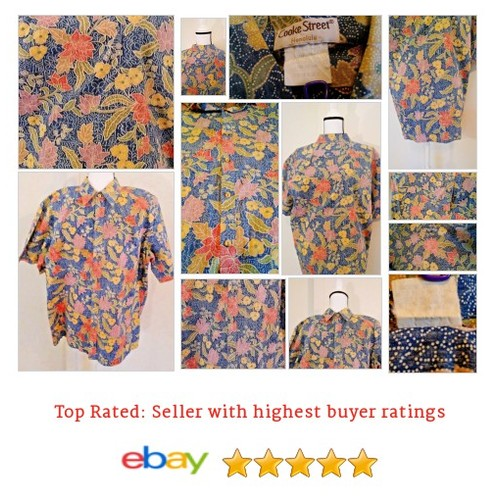 #CookeStreetHonolulu #Floral #Hawaiian Shirt Size XL  | @eBay #CookeStreet #etsy #PromoteEbay #PictureVideo @SharePicVideo