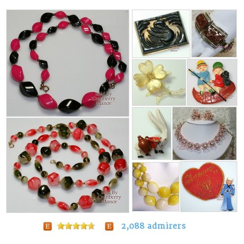 #VintagePlasticJewelry from CranberryManor Etsy shop #etsy #PromoteEtsy #PictureVideo @SharePicVideo