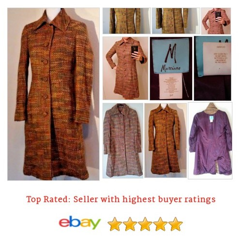 #Guess by #Marciano #Coat Size S Small Tweed Long Multi-Color 60s Inspired #etsy #PromoteEbay #PictureVideo @SharePicVideo
