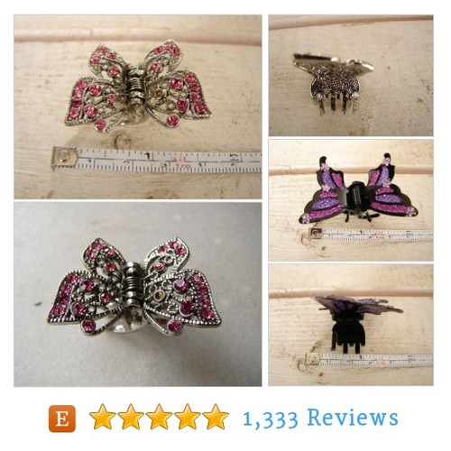 pair vintage hair clips for small child or #etsy @frenchpainted  #etsy #PromoteEtsy #PictureVideo @SharePicVideo