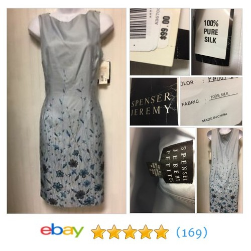 NWT WOMENS BABY BLUE SPENCER JEREMY FLORAL SLEEVELESS SHEATH DRESS #ebay @amayakatedesign  #etsy #PromoteEbay #PictureVideo @SharePicVideo