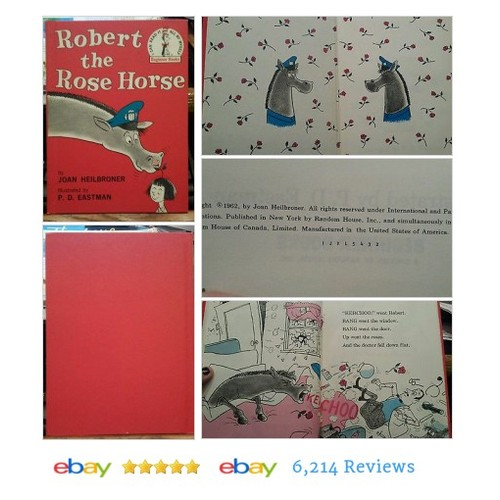 Robert the Rose Horse by Joan Heilbroner 1962 HC Early Dr Seuss Book #Book #Child  #etsy #PromoteEbay #PictureVideo @SharePicVideo
