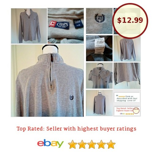 #RalphLauren Mens Grey #Pullover Large L #FathersDay #DadGift | eBay #Chaps #Sweat #Hoody #mensfashion #auction #etsy #PromoteEbay #PictureVideo @SharePicVideo