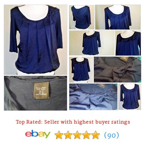 Zara Basic Evening Navy Pleated Bow Date Fun Club Size S #Blouse Date Spring Blue | eBay #Top #ZARA #etsy #PromoteEbay #PictureVideo @SharePicVideo
