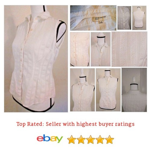 Jones New York Sport Sleeveless White Button #Top Size Small Spring Fun Summer | eBay #Blouse #JonesNewYork #etsy #PromoteEbay #PictureVideo @SharePicVideo