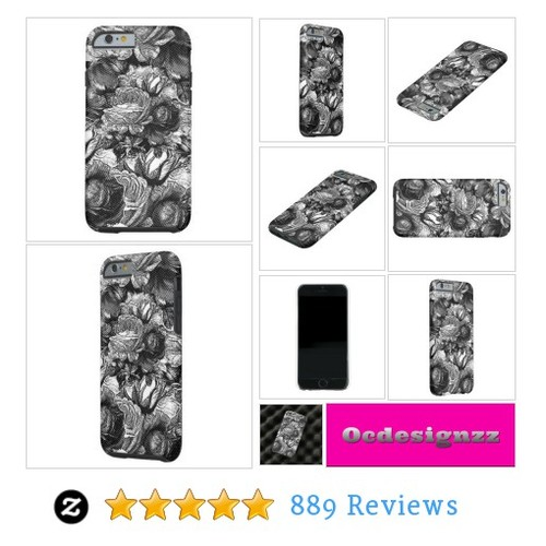 Black&White Vintage Roses Tough Xtreme iPhone 6 Case available for other devices! #phonecase #ocdesignzz #zazzle #socialselling #PromoteStore #PictureVideo @SharePicVideo