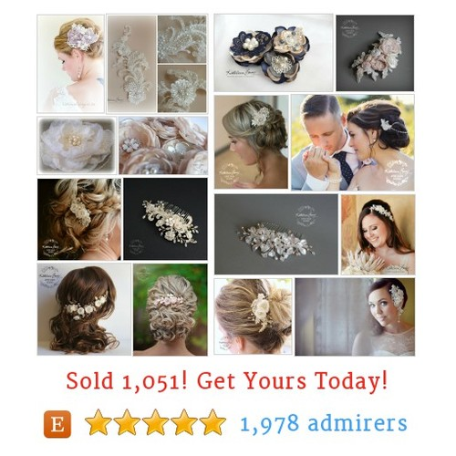 Floral / lace hairpieces Etsy shop #etsy @kathleenbarry  #etsy #PromoteEtsy #PictureVideo @SharePicVideo