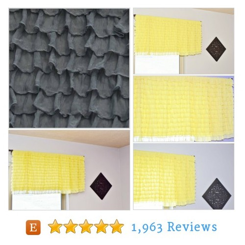 Gray Valance - Curtains for Kitchen - Grey #etsy @avisiontorememb  #etsy #PromoteEtsy #PictureVideo @SharePicVideo