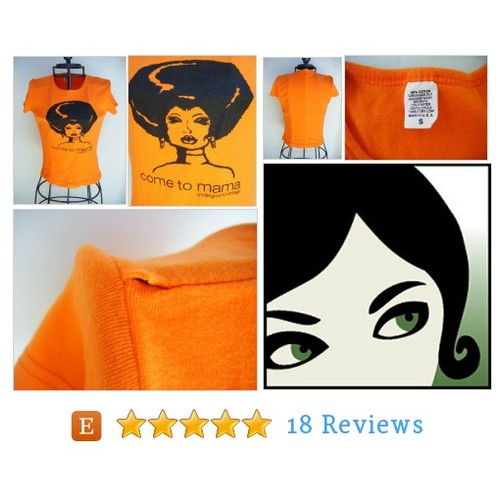 Vintage Orange Fitted T shirt Come to Mama #etsy @overmyheadhat  #etsy #PromoteEtsy #PictureVideo @SharePicVideo