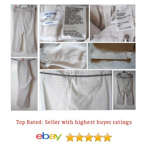 Docker's Favorite Fit Sz 4 Petite #Khaki Stone 31 x 28 Pants Women's Good Shape | eBay #Pant #Chino #etsy #PromoteEbay #PictureVideo @SharePicVideo