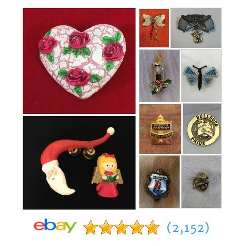 @SEWMUCHFUN2 Brooches & Pins Items in OLD CROW'S TREASURES 24/7 store on eBay! #Pin #Brooch #ebay #PromoteEbay #PictureVideo @SharePicVideo
