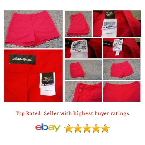 Eddie Bauer Women's Shorts Size 2 Red Nylon Running Spring Break Hot Solid Play  #Short #EddieBauer #WomensClothing #etsy #PromoteEbay #PictureVideo @SharePicVideo
