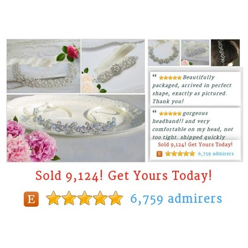 #Wedding Headbands #BridalHair Accessories by MissJoansBridal Etsy shop  #etsy #PromoteEtsy #PictureVideo @SharePicVideo