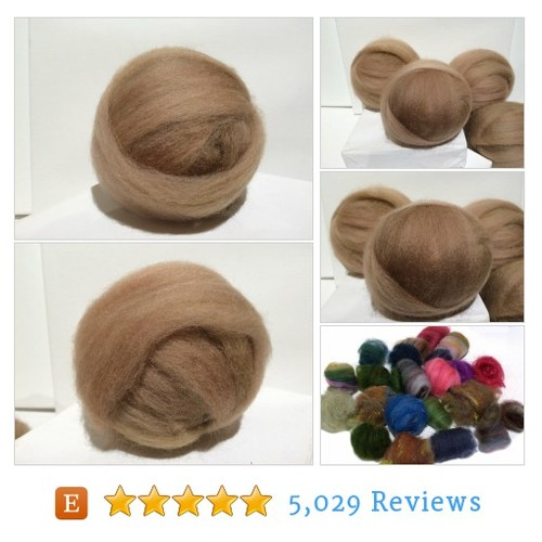 Tan wool Roving, wool top, Needle Felting #etsy @wildethyme_art  #etsy #PromoteEtsy #PictureVideo @SharePicVideo