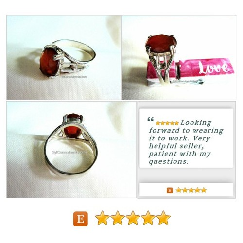 #Sterling #Silver #Ring #Carnelian #Jewelry #SylCameoJewelsStore #etsyspecialt  #StatementRing #etsy @InfamousRTs #etsy #PromoteEtsy #PictureVideo @SharePicVideo