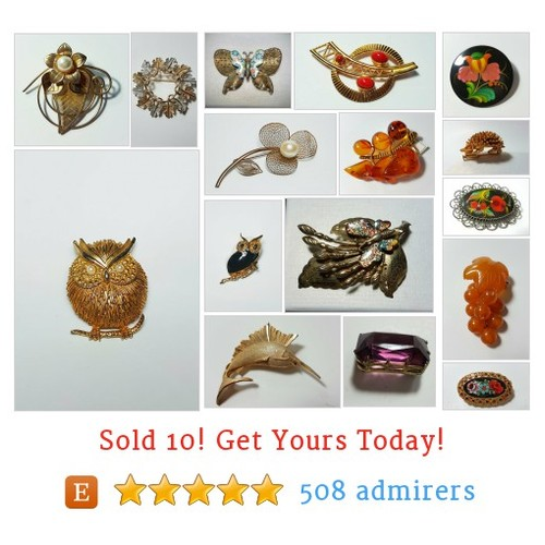 Vintage Brooches Etsy shop #etsy @angella_rain  #etsy #PromoteEtsy #PictureVideo @SharePicVideo