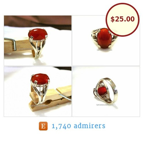 #RedCarnelianStone #Ring #Sale #StatementRing #SterlingSilver SylCameoJewelsStore #Jewelry #etsyspecialt @EtsyClub 10% Off On All Rings Pre-Valentines Sale Jan. 15th to Feb. 14th  #etsy #PromoteEtsy #PictureVideo @SharePicVideo