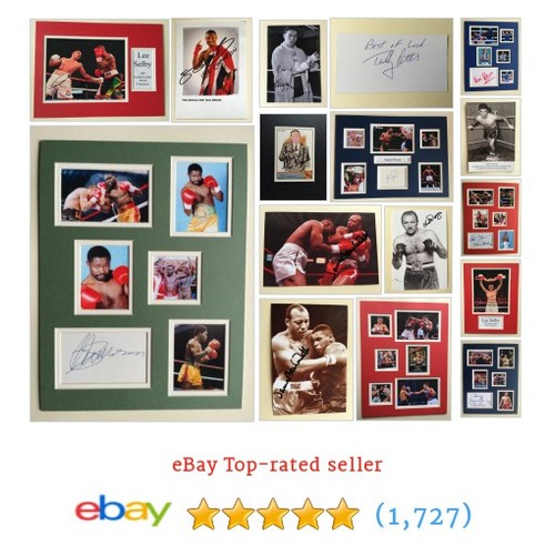 BOXING AUTOGRAPHS Items in Tomflinny Sport Autographs store ! #ebay @tomflinnyebay  #ebay #PromoteEbay #PictureVideo @SharePicVideo