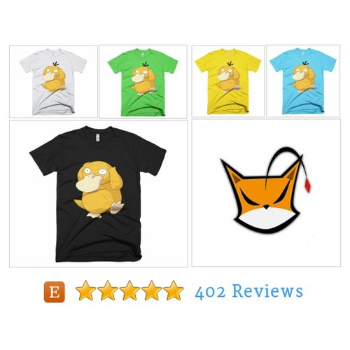 Psyduck Pokemon T-shirt. Gildanm high #etsy @vinylgraf  #etsy #PromoteEtsy #PictureVideo @SharePicVideo