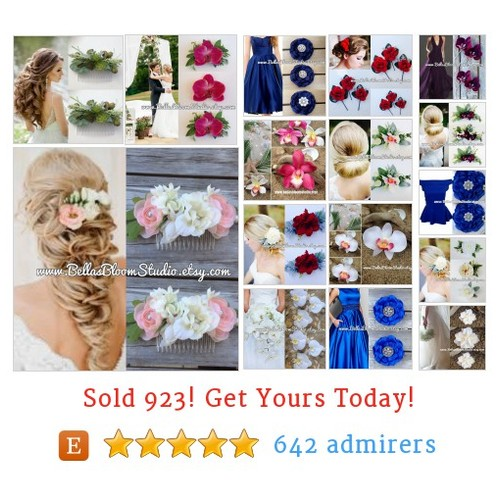 Bridal Hair Clips Etsy shop #etsy @bellasbloom  #etsy #PromoteEtsy #PictureVideo @SharePicVideo