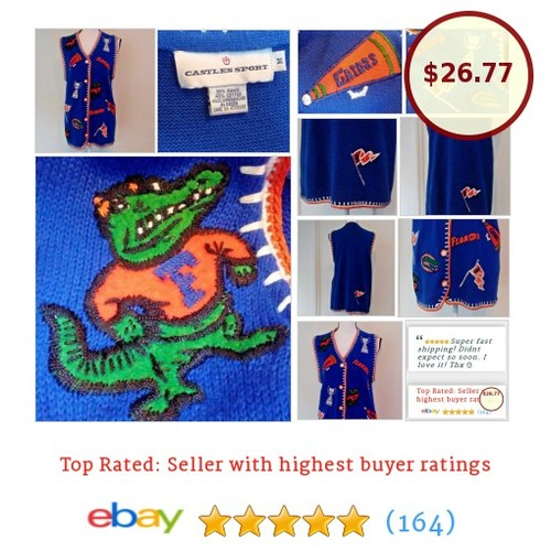 Florida Gators Sweater Vest University Florida UF Football Embroidered Size M | eBay #Souvenir #FanApparel  #etsy #PromoteEbay #PictureVideo @SharePicVideo