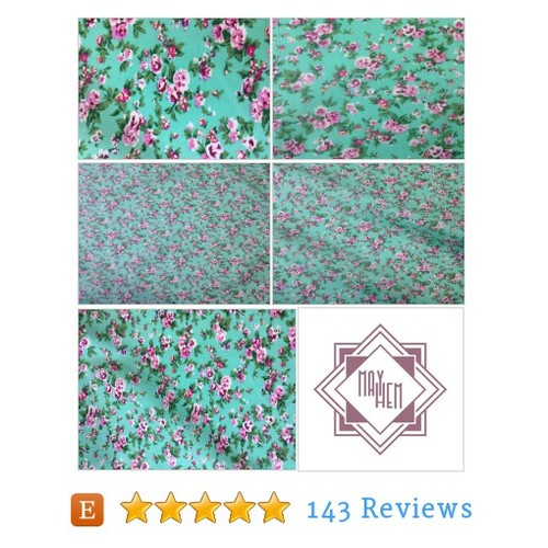 Floral Jade Green cotton fabric, Summer #etsy @may_hemuk  #etsy #PromoteEtsy #PictureVideo @SharePicVideo