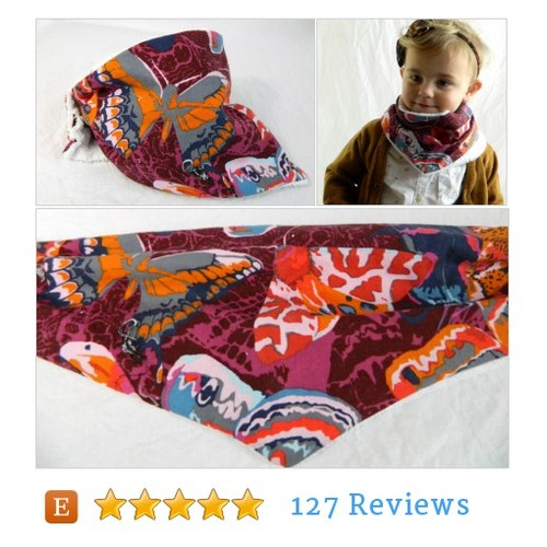 Butterfly Baby Hipster Scarf Bib #BabyAccessory @Spaghetti_Toes  #etsy #PromoteEtsy #PictureVideo @SharePicVideo