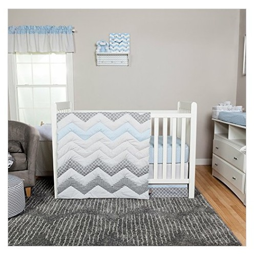 Trend Lab Chevron 3 Piece Crib Bedding Set, Blue Taffy  #socialselling #PromoteStore #PictureVideo @SharePicVideo