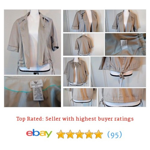138720fc Worthington #Blazer Beige Women's Size L Popplin Style Ties Neutral Color  Spring | eBay #