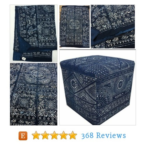 Asian Indigo Batik Fabric, Vintage Chinese #etsy @morrisseyfabric  #etsy #PromoteEtsy #PictureVideo @SharePicVideo