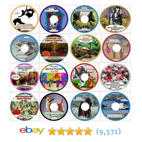 Jigsaw Puzzles On CD Old Items in The Candy's Project store #ebay @candyw  #ebay #PromoteEbay #PictureVideo @SharePicVideo