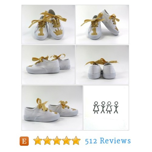 Girl's Birthday Shoes with Gold Crown or #etsy @boygirlboygirl  #etsy #PromoteEtsy #PictureVideo @SharePicVideo