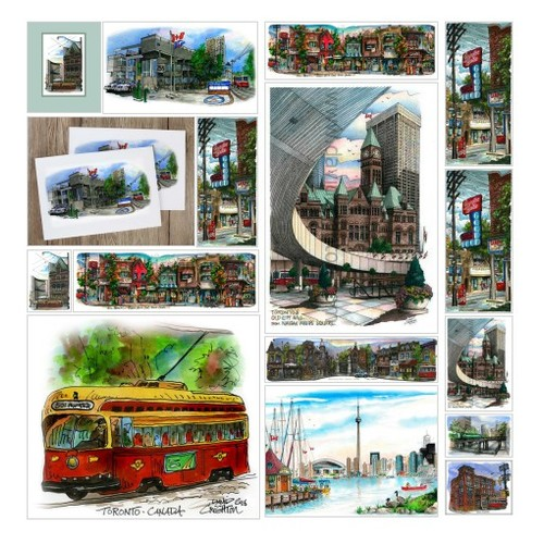 Streetcars In Art Illustrations by #shopify @davidcrighton  #socialselling #PromoteStore #PictureVideo @SharePicVideo