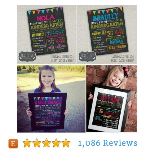 First Day of School Sign | Back to School | #etsy @tealolivedesign  #etsy #PromoteEtsy #PictureVideo @SharePicVideo