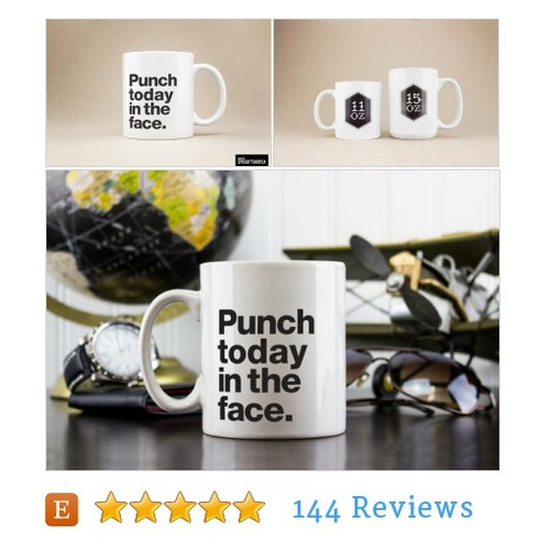 Coffee Mug Tea Cup - Punch Today in the #etsy @epicgifts  #etsy #PromoteEtsy #PictureVideo @SharePicVideo