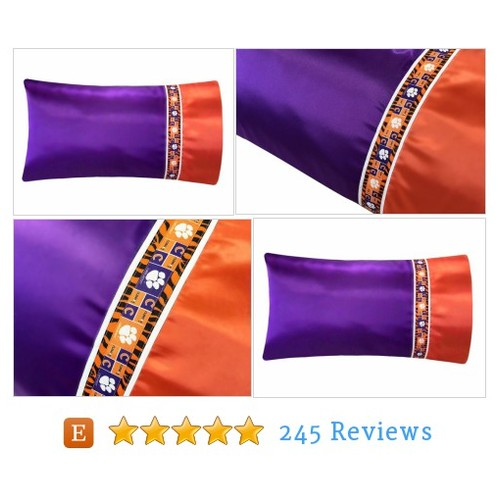Clemson Pillow Case, Clemson University #etsy @satinswank  #etsy #PromoteEtsy #PictureVideo @SharePicVideo