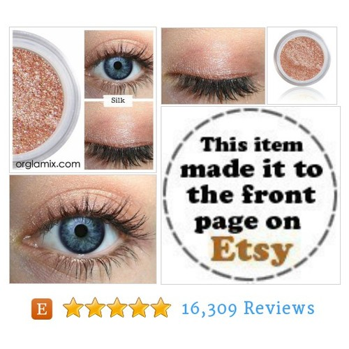 Peachy Pink Eyeshadow | SILK | Mineral Eye #etsy @orglamix  #etsy #PromoteEtsy #PictureVideo @SharePicVideo