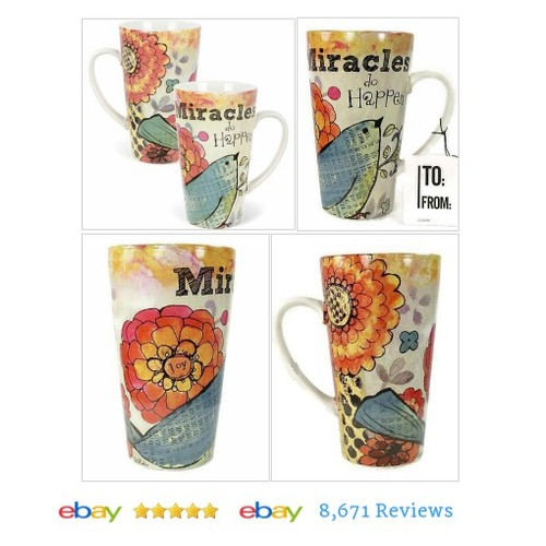 Coffee #Mug Cup 19 oz Ceramic Latte Miracles Do Happen #Cup #DecorativeCollectible #etsy #PromoteEbay #PictureVideo @SharePicVideo