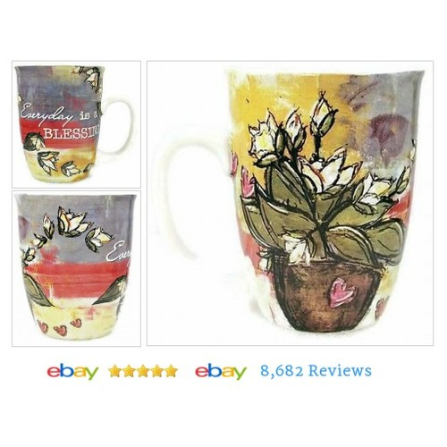 Coffee Mug Cup 14 oz Ceramic Everyday Is A Blessing #etsy #PromoteEbay #PictureVideo @SharePicVideo