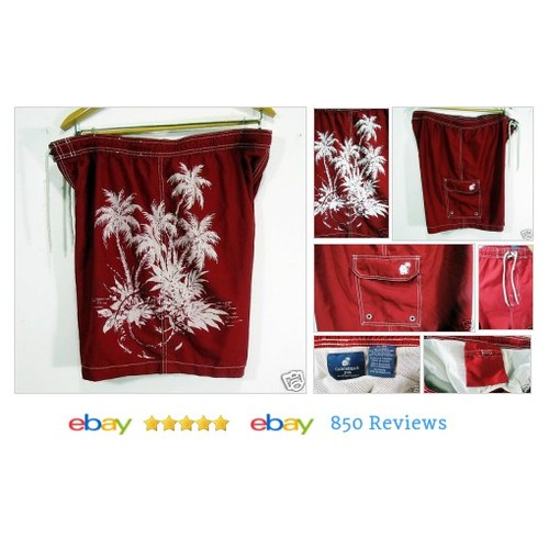 Caribbean Joe Mens Swim Trunks XL Size Palm Trees Red Pockets #Trunk #Swimwear #JoeCarribean #etsy #PromoteEbay #PictureVideo @SharePicVideo