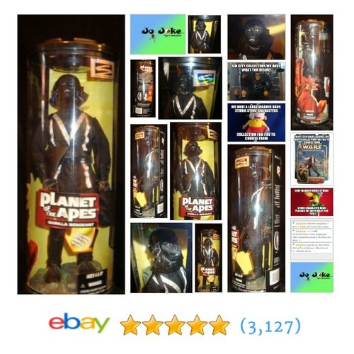 PLANET OF THE APES-GORILLA SERGEANT-1999-12 INCHES-STAND-CAPTURE NET-.45 PISTOL! | eBay #HasbroSIGNATURESeries #etsy #PromoteEbay #PictureVideo @SharePicVideo