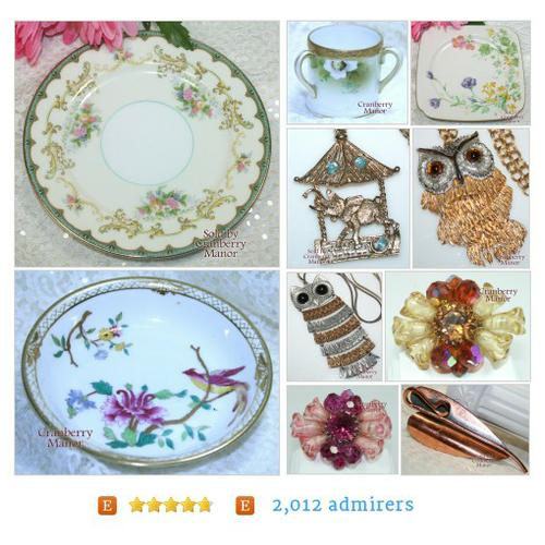 Vintage Jewelry, Glass, China, Pottery, Dolls & Linens from CranberryManor Etsy shop #etsy #PromoteEtsy #PictureVideo @SharePicVideo