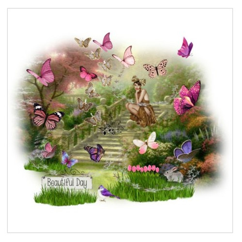 Beautiful Day #artexpression #polyvore #Butterflies #landscape #flowers   www.etsy.com/shop/SylCameoJewelsStore  #socialselling #PromoteStore #PictureVideo @SharePicVideo