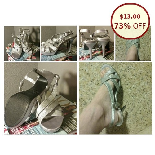 George shiny siver dress sandals EUC 7 1/2 @karenposhmark https://www.SharePicVideo.com/?ref=PostPicVideoToTwitter-karenposhmark #socialselling #PromoteStore #PictureVideo @SharePicVideo