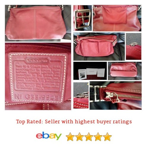 #Coach Leather Handbag G33-9543 Red Legacy 2003 | eBay #Bag #Hobo #etsy #PromoteEbay #PictureVideo @SharePicVideo