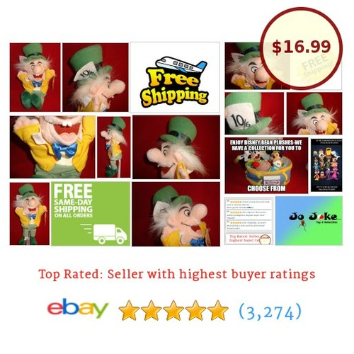 DISNEY STORE EXCLUSIVE-MAD HATTER-ALICE IN WONDERLAND-ZANY EXPRESSION--NEW/TAGS | eBay #Disney #etsy #PromoteEbay #PictureVideo @SharePicVideo