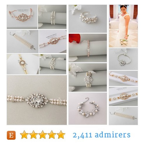 Wedding Bracelets #etsy shop #weddingbracelet @ambrosiabridal  #etsy #PromoteEtsy #PictureVideo @SharePicVideo