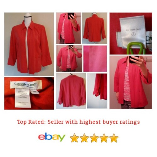Coldwater Creek Women's #Blazer Size M Medium Silk Blend Salmon Color Friday Work | eBay #Suit #ColdwaterCreek #etsy #PromoteEbay #PictureVideo @SharePicVideo