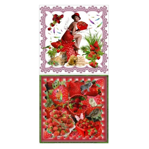 Strawberry Galore #artset #artcollage #artexpression #fashionset #fashion #topset #polyvore www.etsy.com/shop/SylCameoJewelsStore #socialselling #PromoteStore #PictureVideo @SharePicVideo