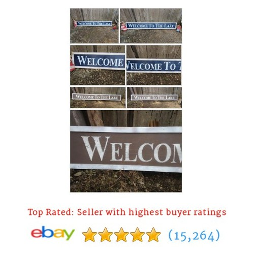 HP LARGE WELCOME TO THE LAKE WOOD SIGN #sellonebay #ebay @mcclaindebby  #etsy #PromoteEbay #PictureVideo @SharePicVideo